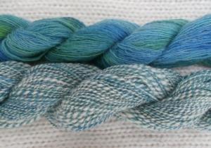 Hand-dyed hand-spun wool