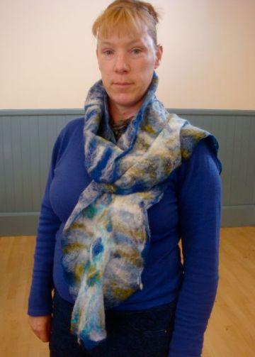 Miranda blue scarf