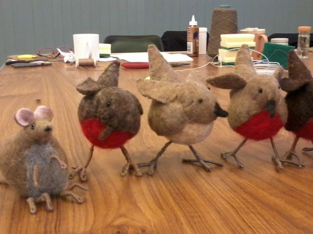 Felted Robin workshop11