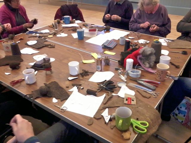Felted Robin workshop3