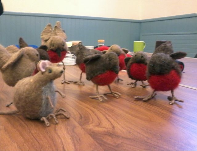 Felted Robin workshop9